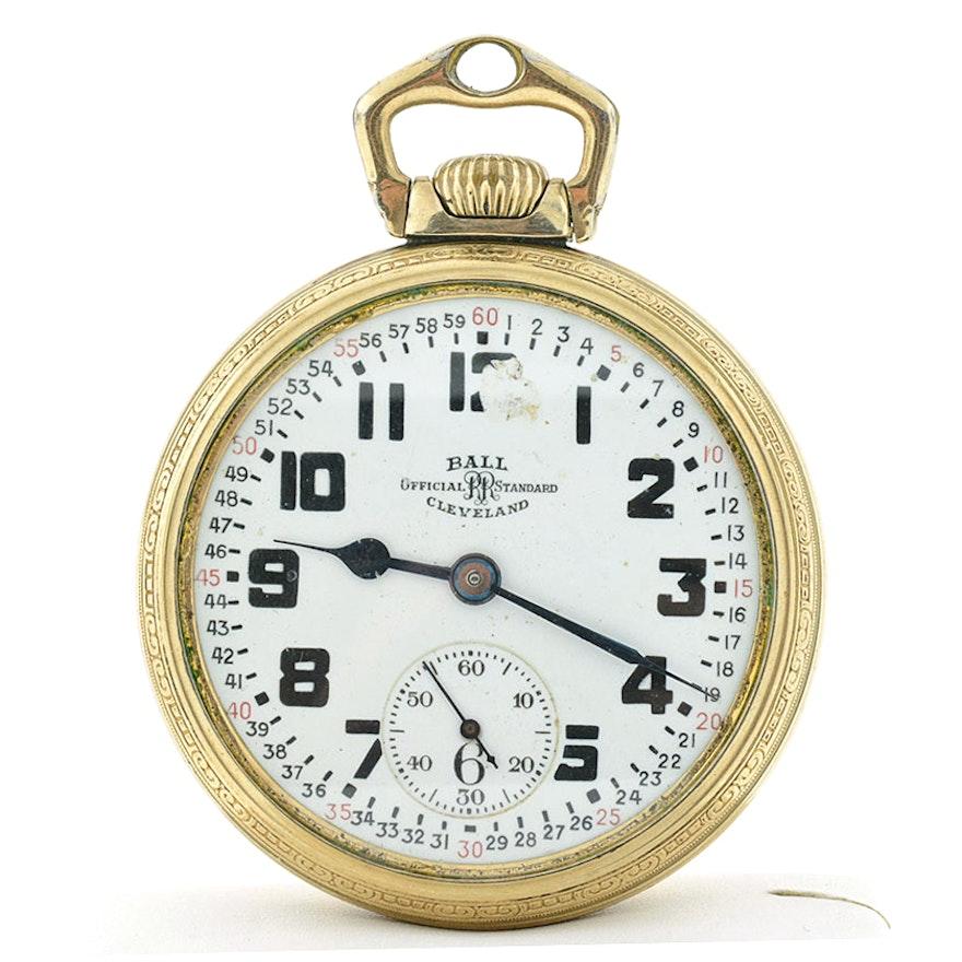 Vintage Ball Official Standard 21 Jewel Pocket Watch Ebth