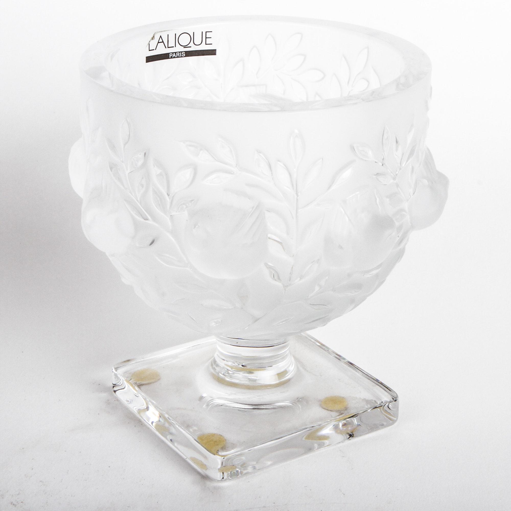 """Lalique """"Elizabeth"""" Pedestal Bowl"""