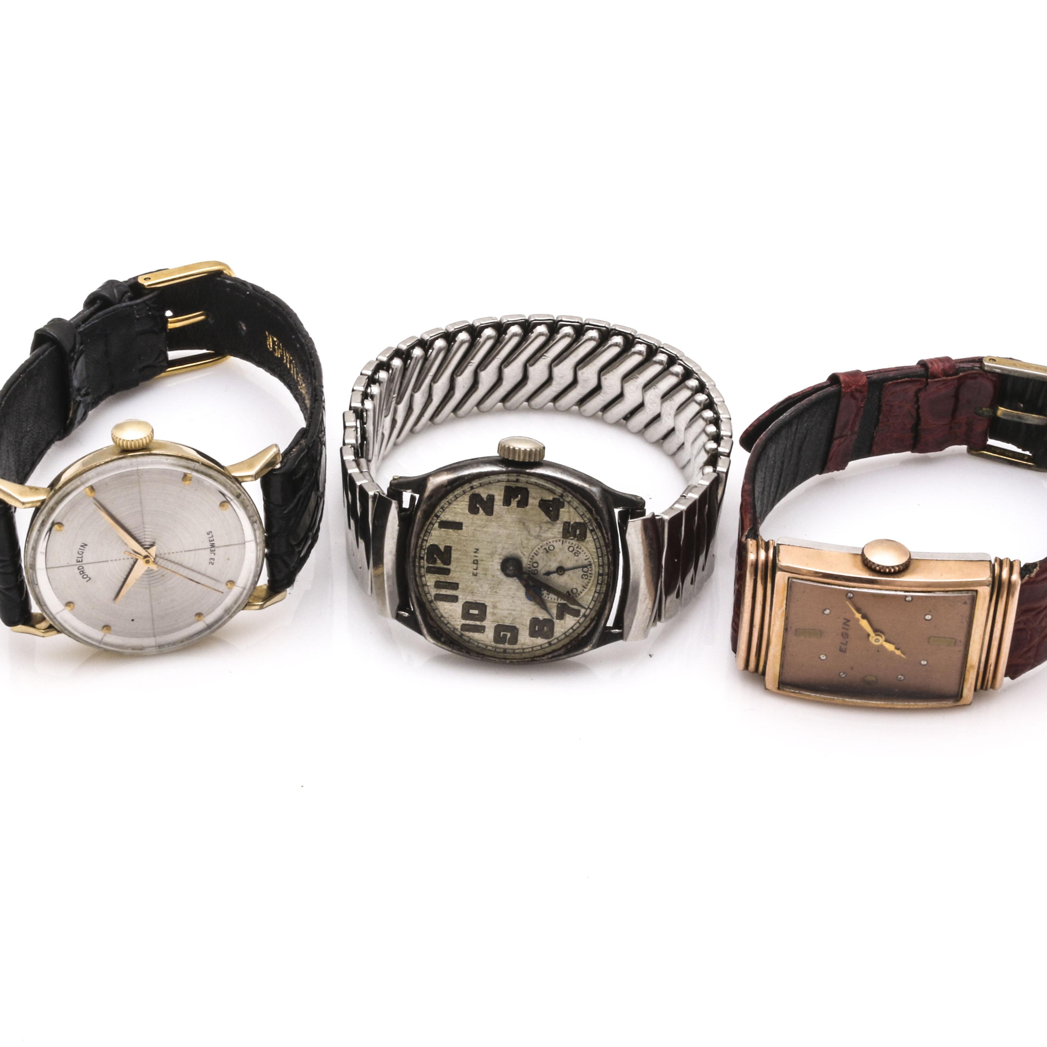 Three Elgin Wristwatches