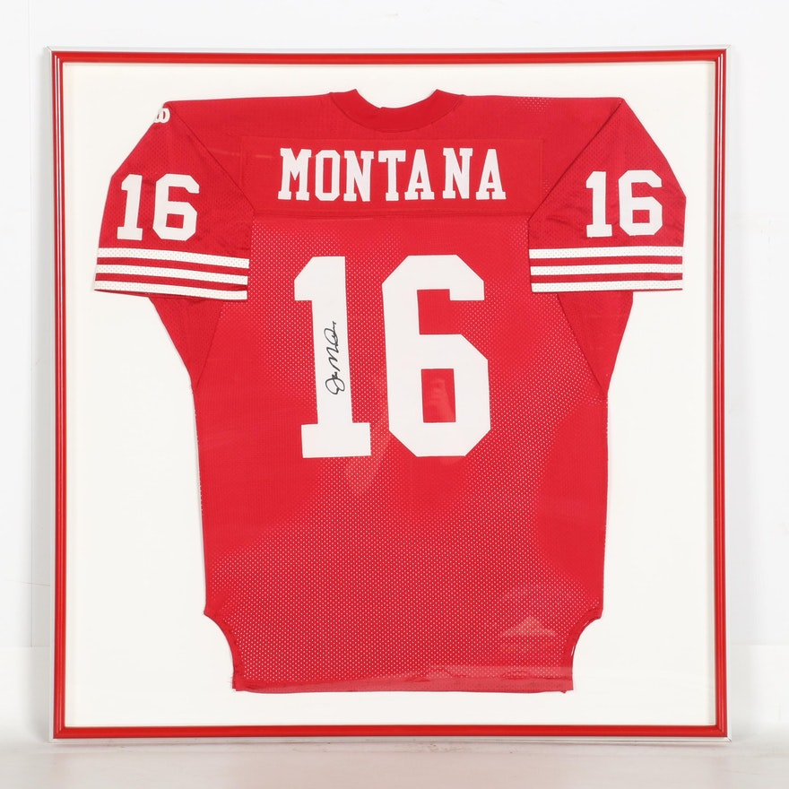 brand new 31c8f 04809 Signed and Framed Joe Montana Jersey