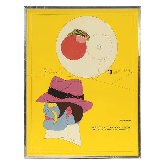 Richard Lindner Signed 1969 Artist's Proof Serigraph Exhibition Poster