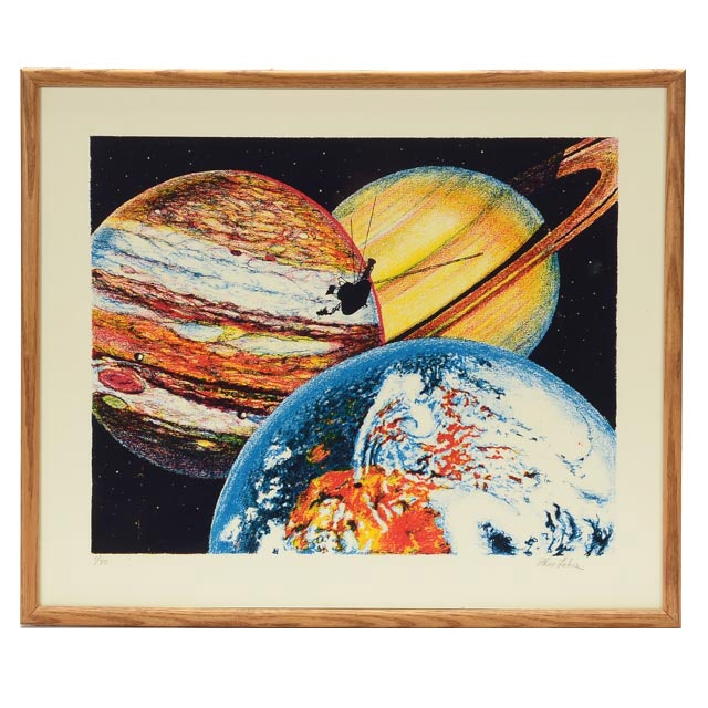 "Tom Lohre Signed Limited Edition Serigraph ""Voyager II"""