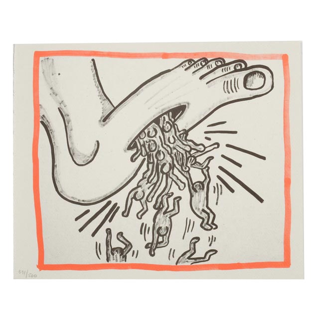 "Keith Haring Limited Edition Print from ""Against All Odds: 20 Drawings - Oct. 3 1989"""
