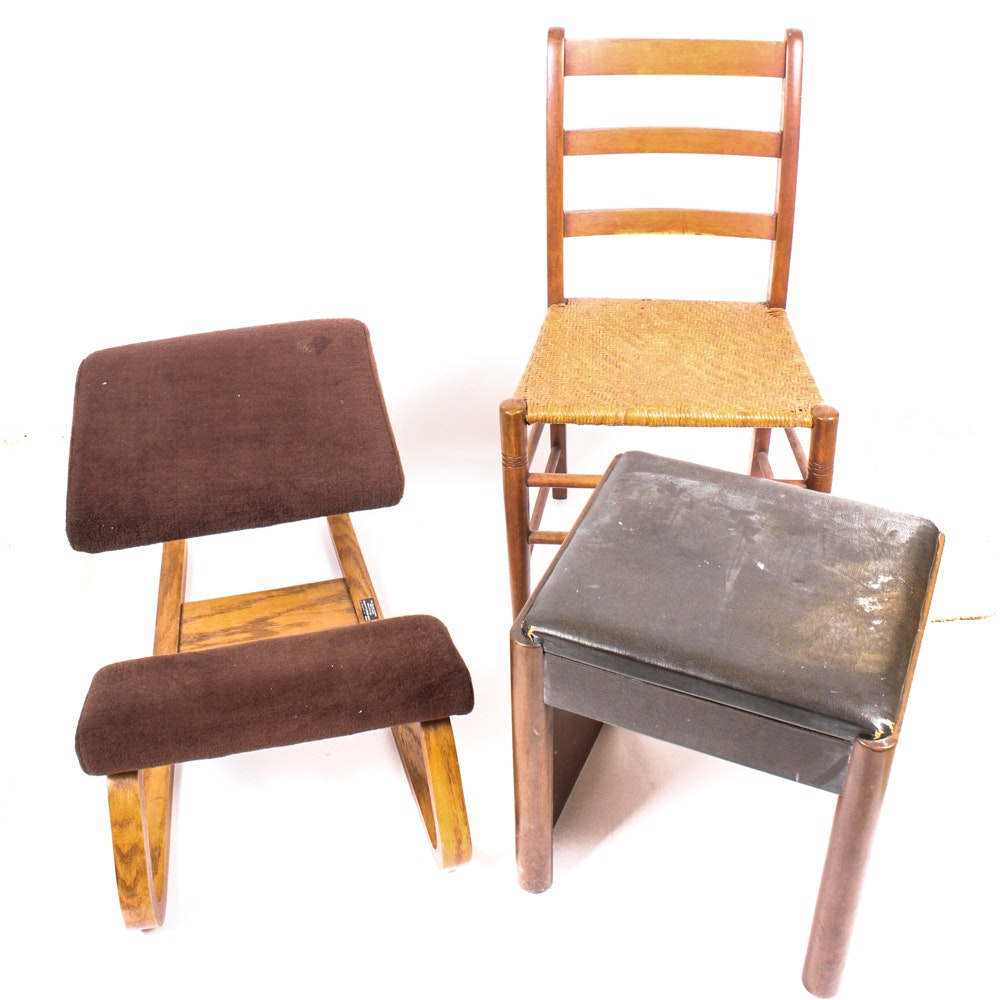 Eclectic Vintage Seating Grouping