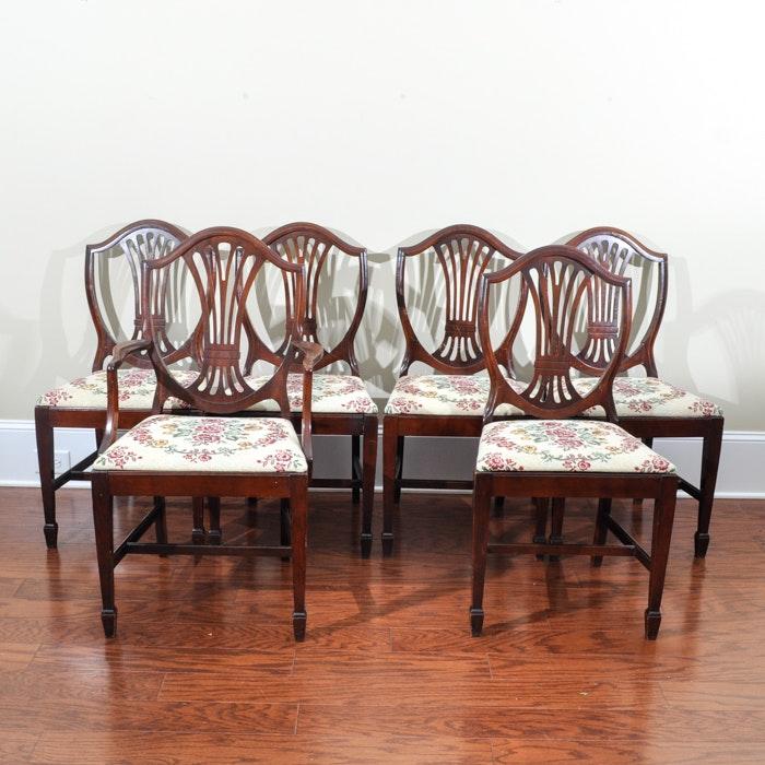 Set of Mahogany Shield Back Dining Chairs