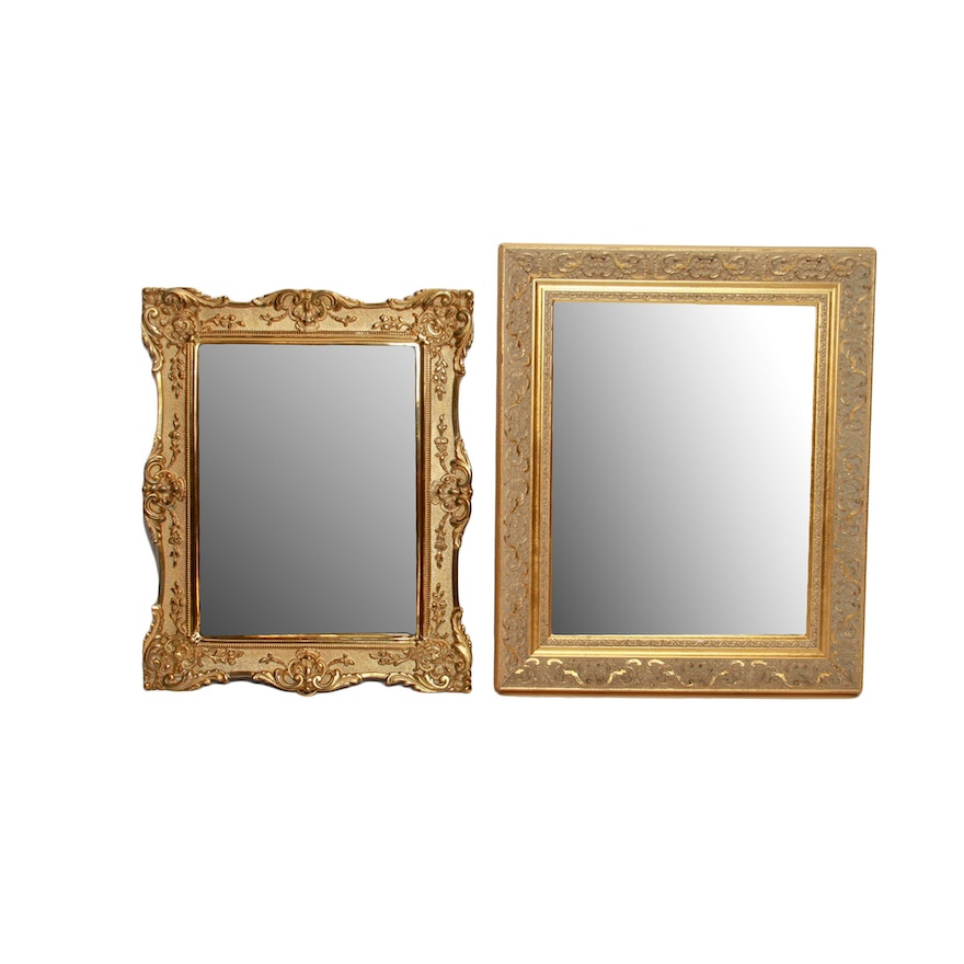 cc4888b9446 Pair of Beveled Wall Mirrors With Gold Tone Frames   EBTH