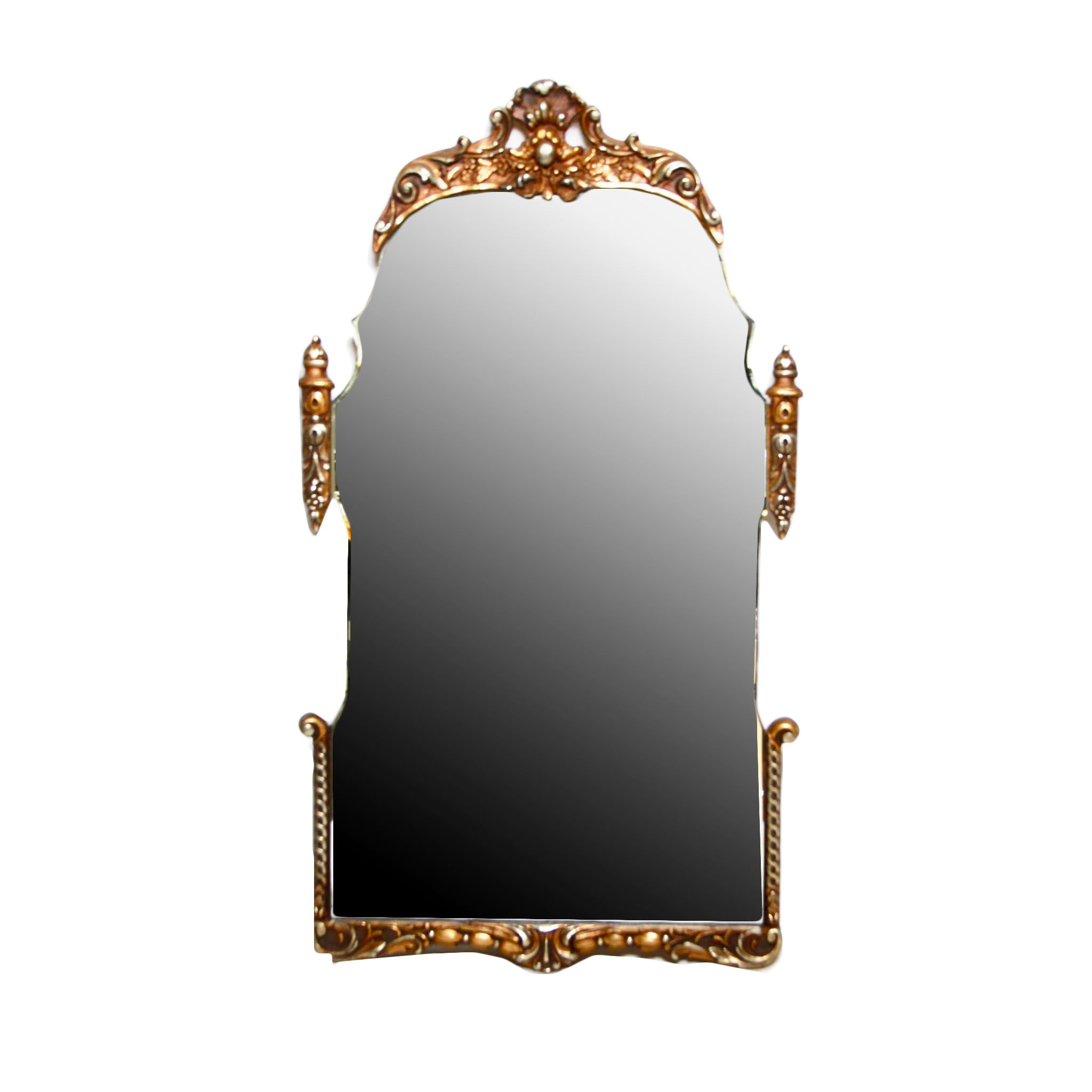 Hollywood Regency Style Gold Toned Mirror