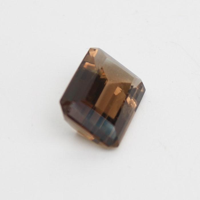 21.93 Ctw Emerald Cut Smokey Quartz Loose Gemstone