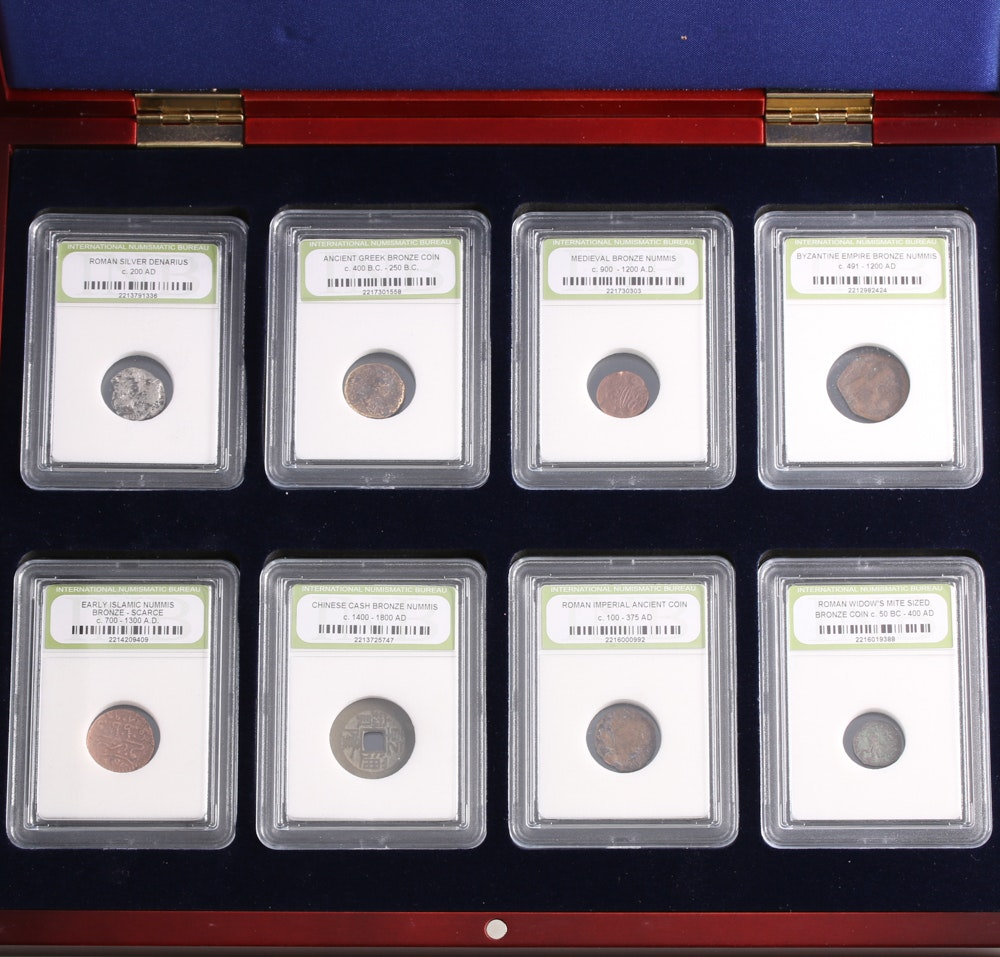 Group of Eight Ancient Coins