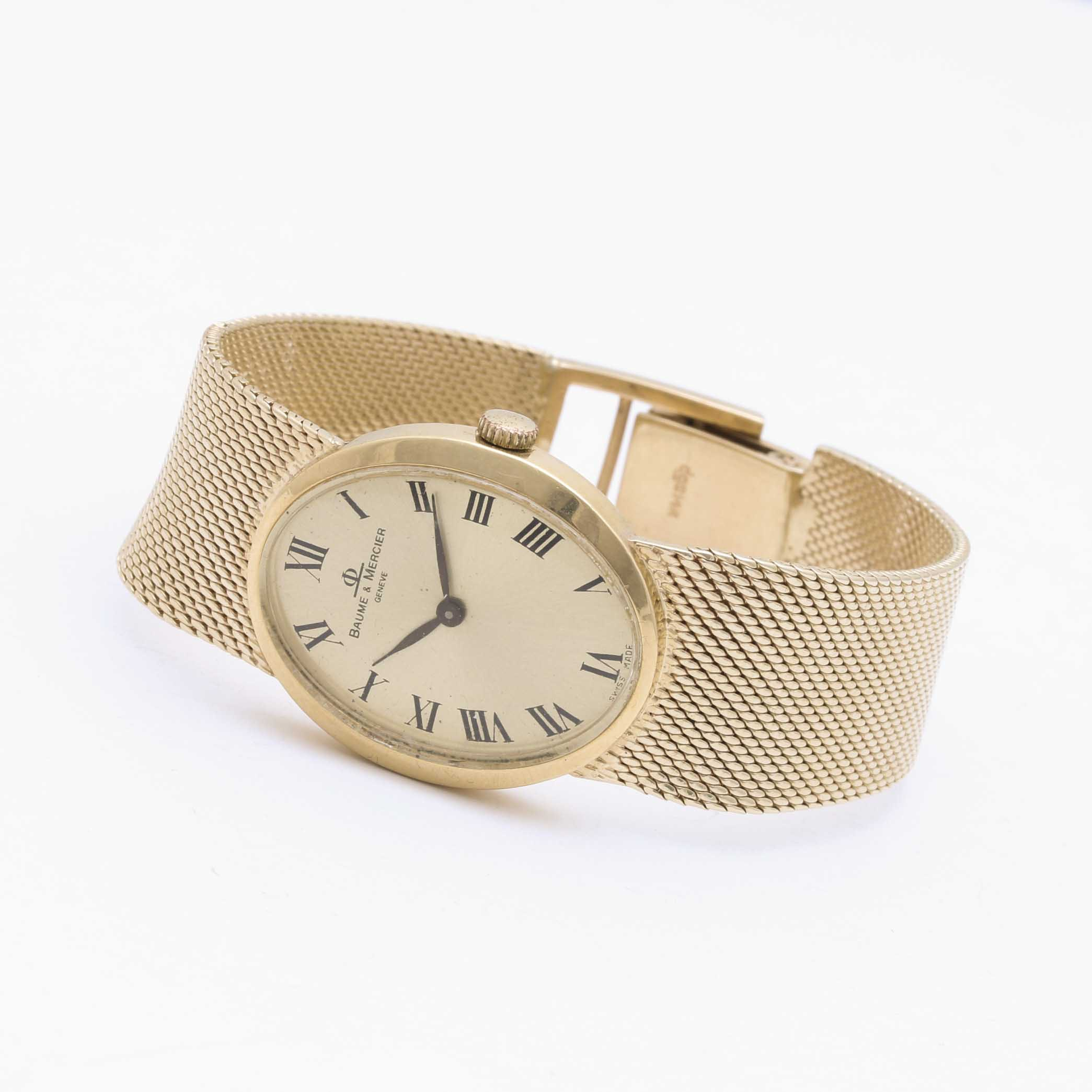 18K Yellow Gold Baume & Mercier Wristwatch