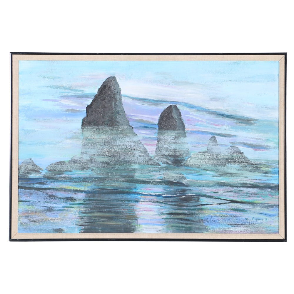 Alice Stephens Original Seascape Oil on Board