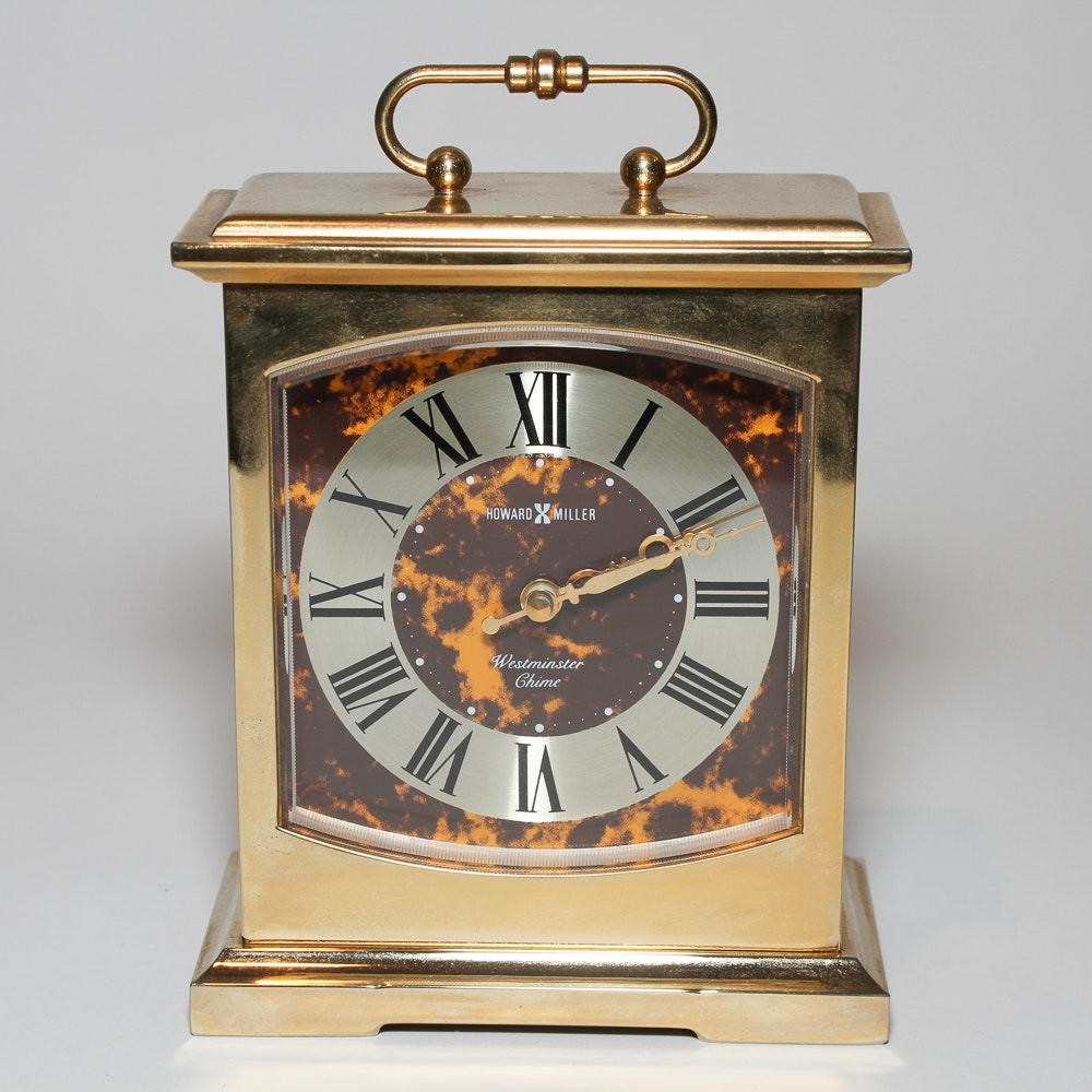 Howard Miller Brass Case Carriage Clock