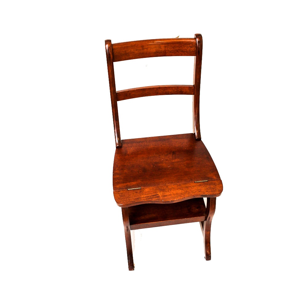 Carolina Cottage Style Benjamin Wooden Library Chair ...