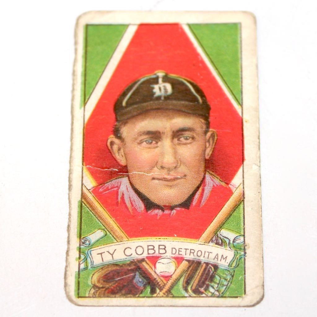 Authentic 1921 T202 Hassan Ty Cobb Card