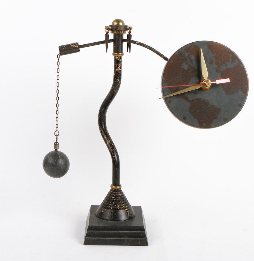 timely designs parvenue world atlas desk clock - Designer Desk Clock