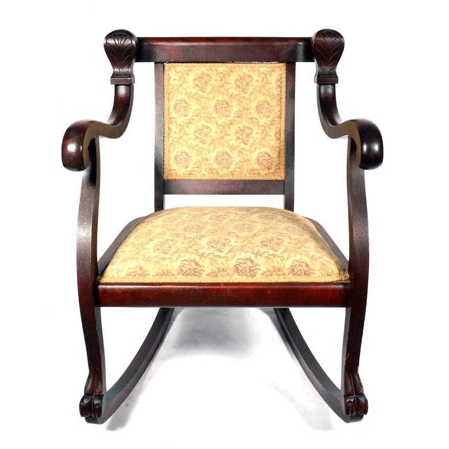Empire Style Rocking Chair Ebth