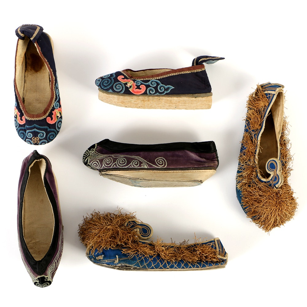 Collection of Chinese Embroidered Shoes