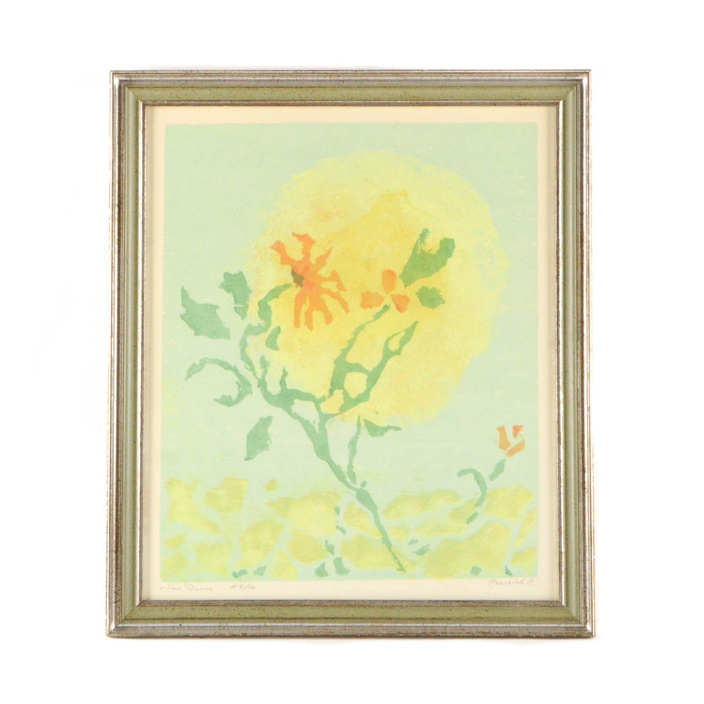 "Signed Limited Edition Serigraph ""Sun Dance"" After Grace Perreiah"