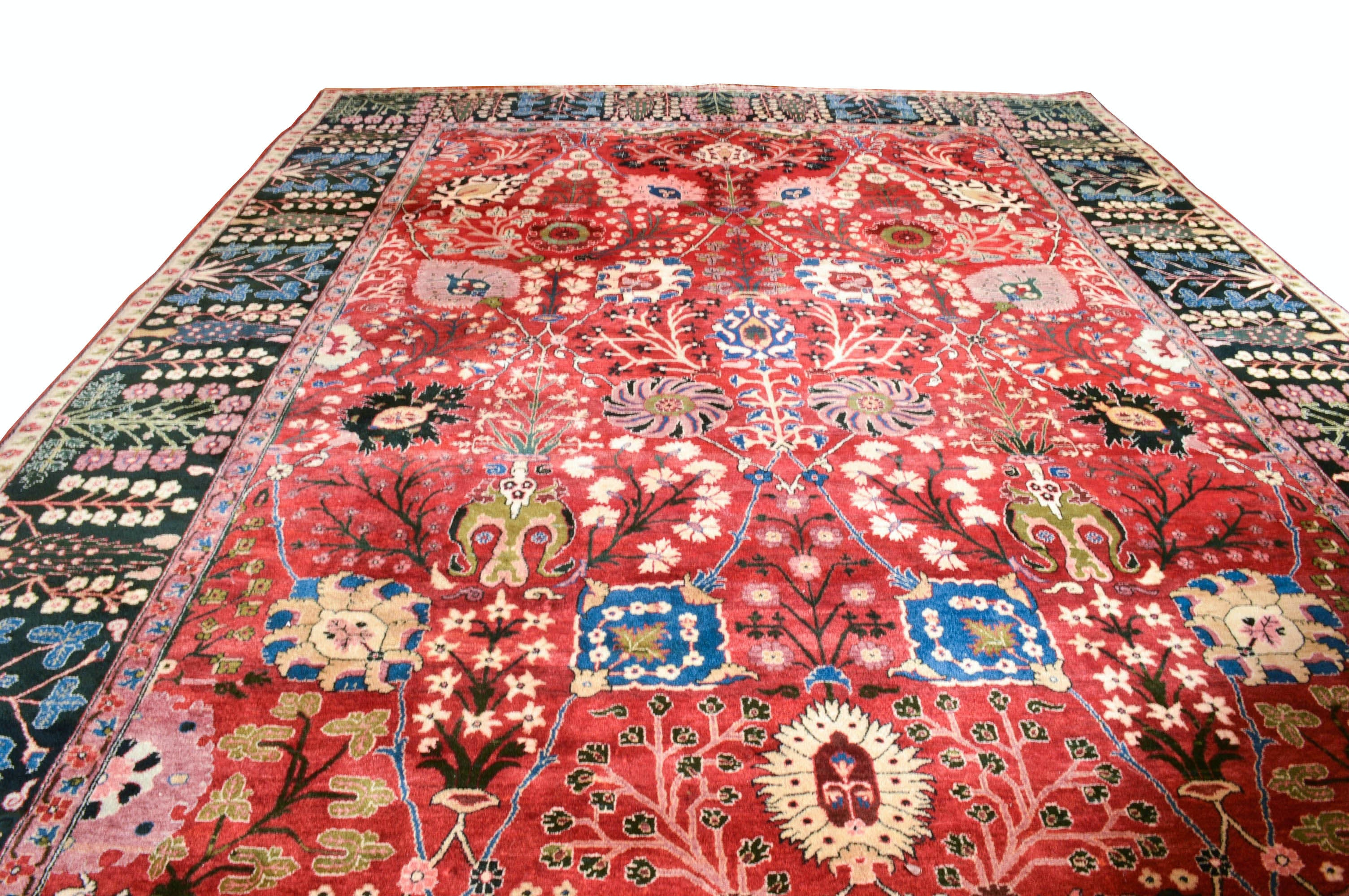 Large Hand Knotted Veramin-Style Area Rug