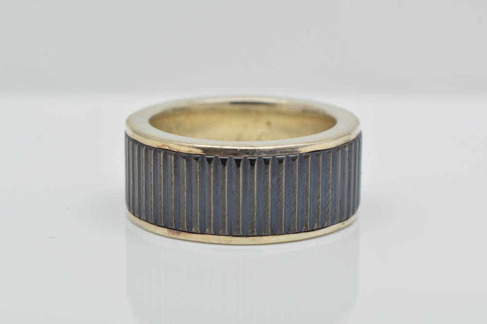 Tiffany & Co. Sterling Silver and Titanium Band