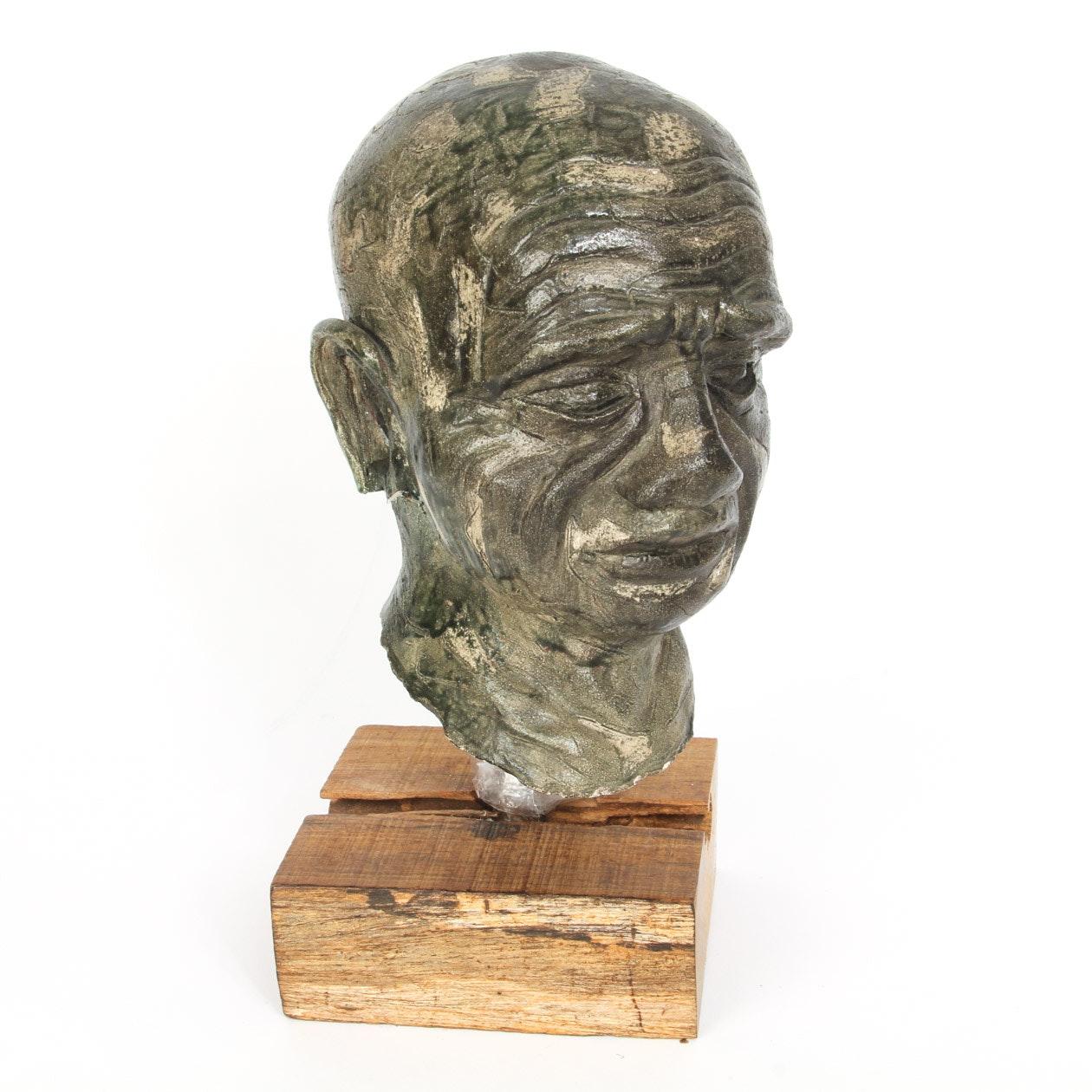 Vintage Ceramic Bust Sculpture