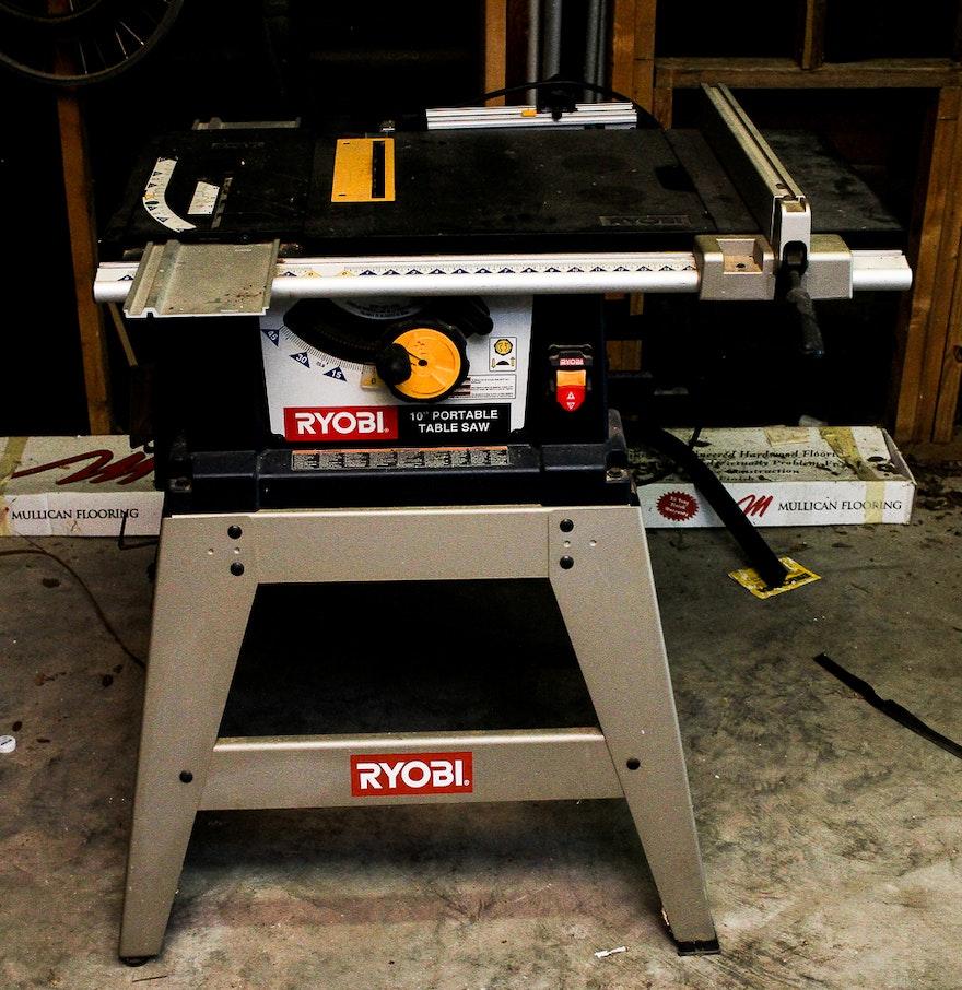 Ryobi 10 portable table saw ebth for 10 table saw ryobi