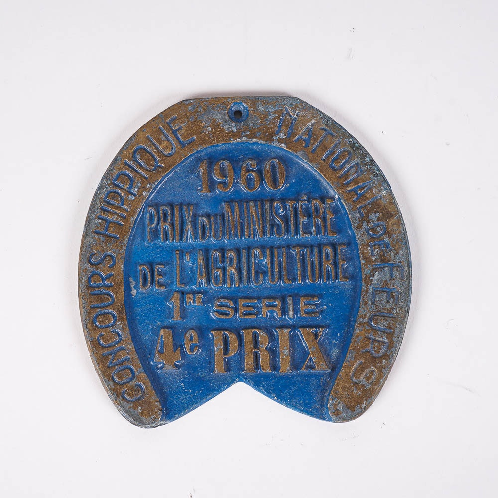 1960 French Agriculture Award Plaque