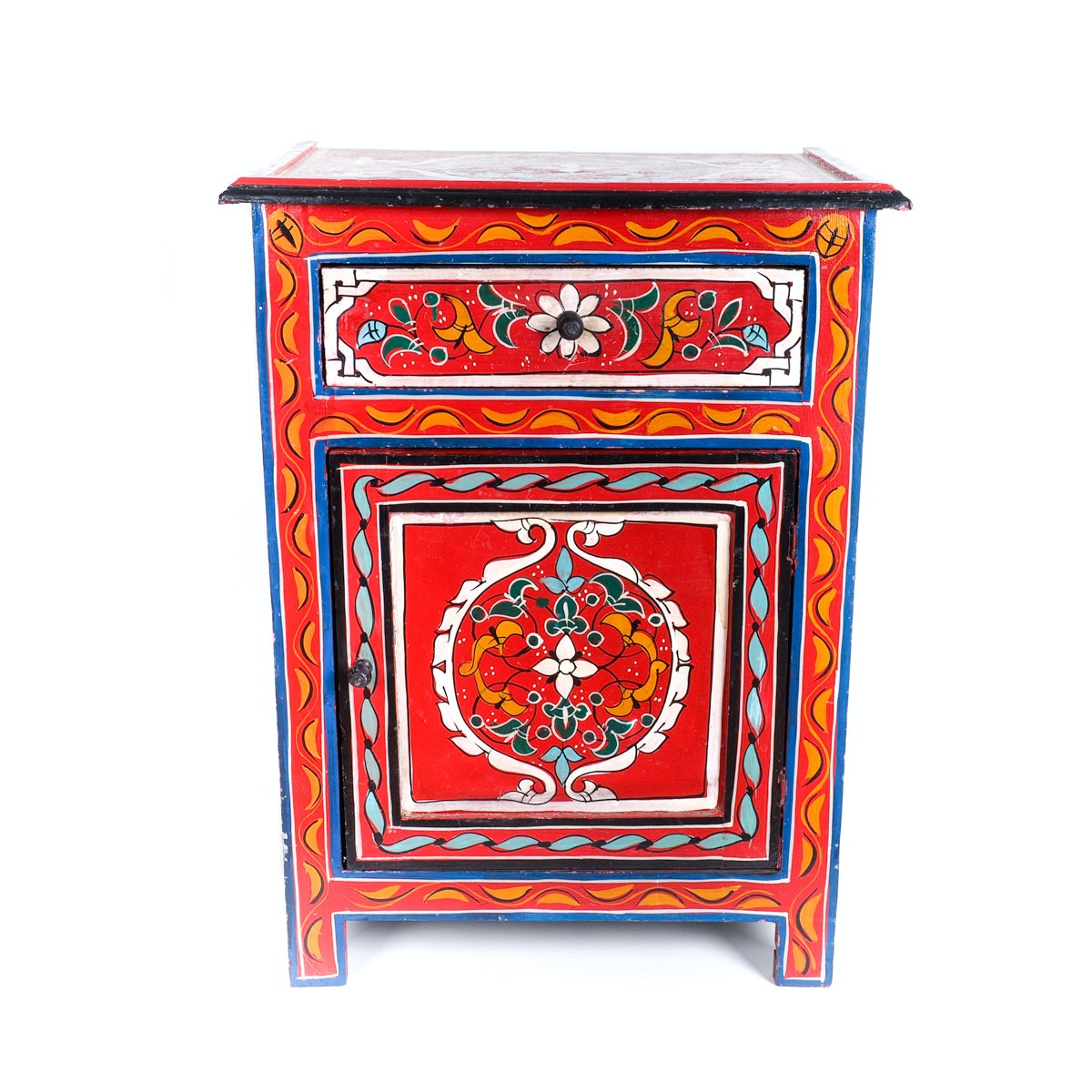 Brightly Colored Hand Painted Moroccan Side Table ...