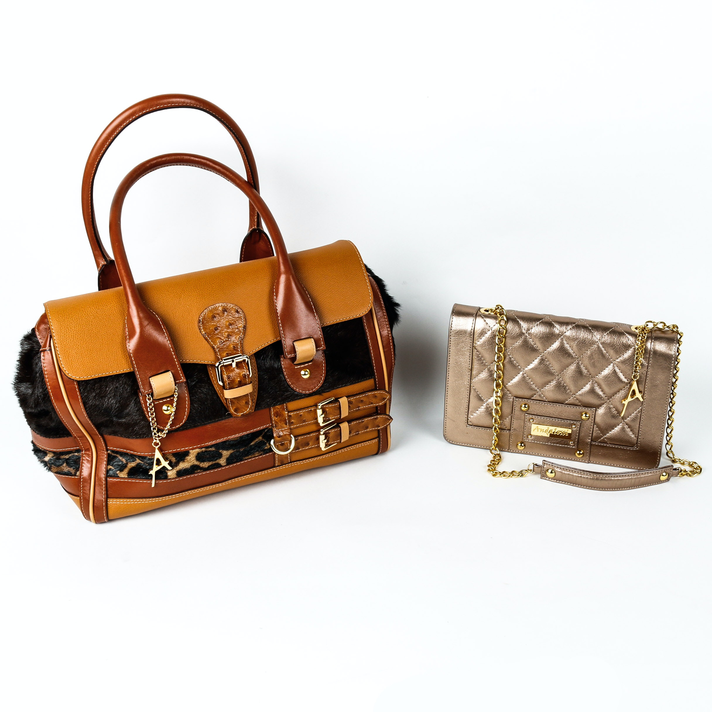 Two Andalossi Leather Handbags : EBTH