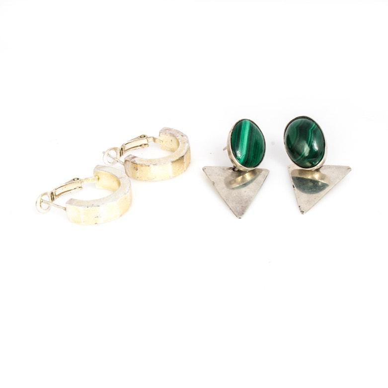 Assortment of Sterling Silver Earrings