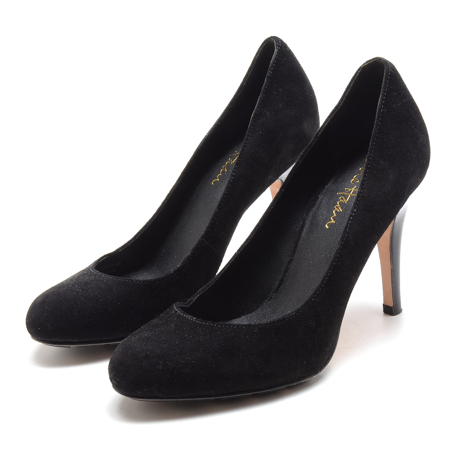 Cole Haan Black Suede Leather Dress Pumps