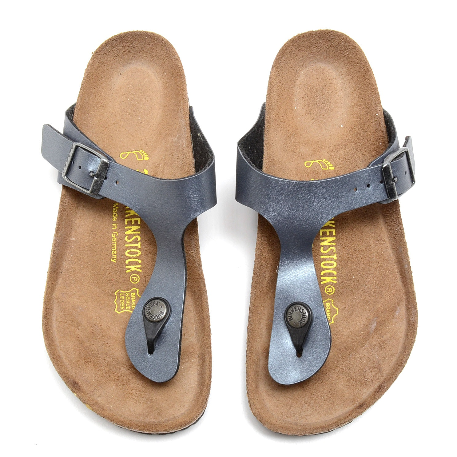 Birkenstock Classic Sandals in Pewter Leather