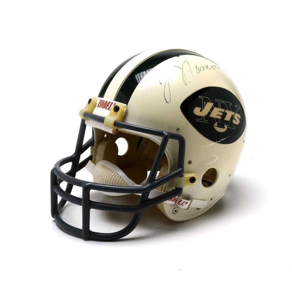 Joe Namath Signed Jets Helmet  Visual COA