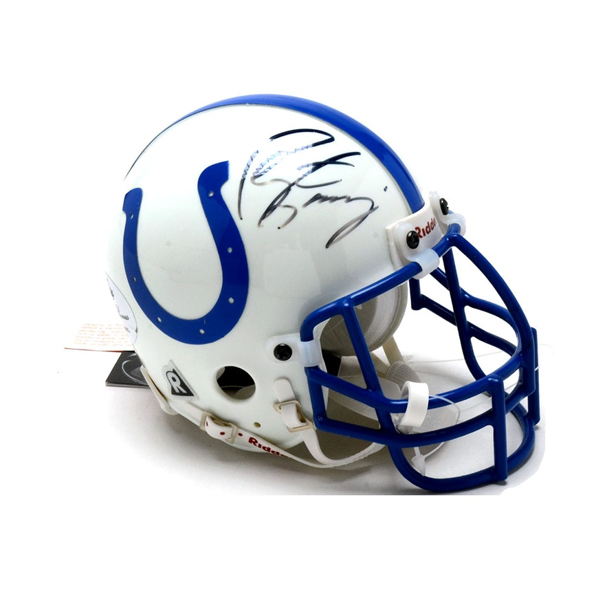Peyton Manning Signed Colts Mini Football Helmet COA