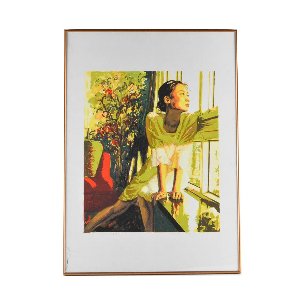 Limited Edition Serigraph of Asian Woman
