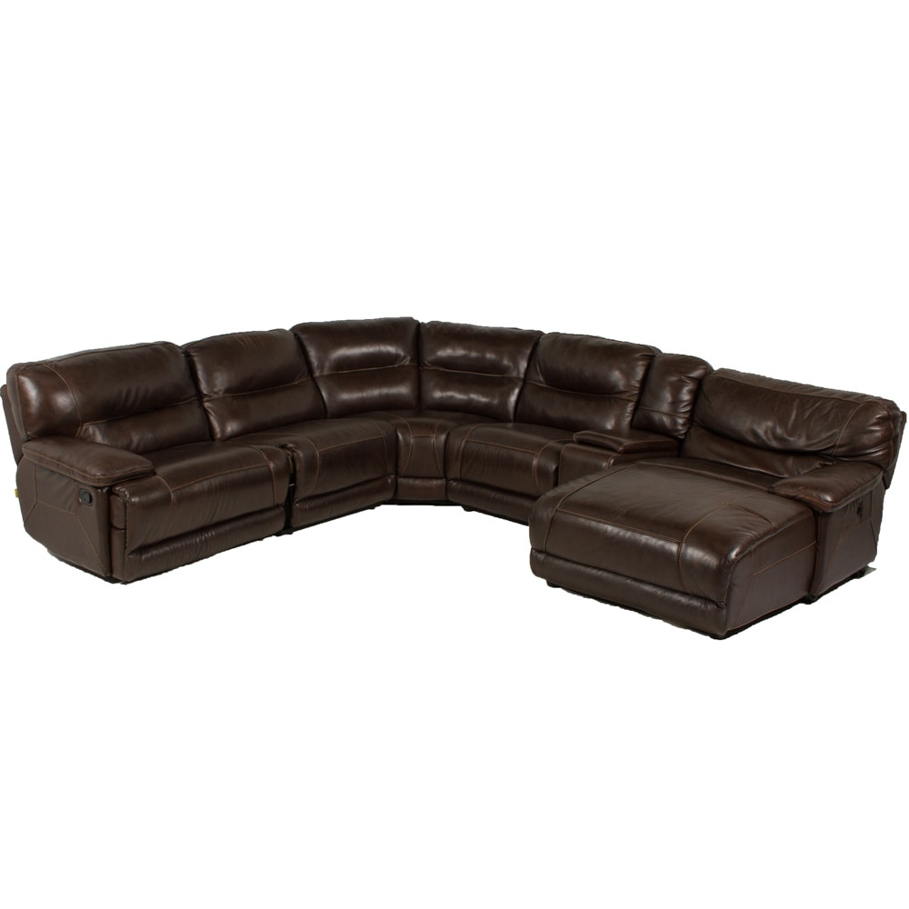 Contemporary Leather Sectional Sofa by Cheers ...  sc 1 st  Everything But The House : cheers sectional sofa - Sectionals, Sofas & Couches