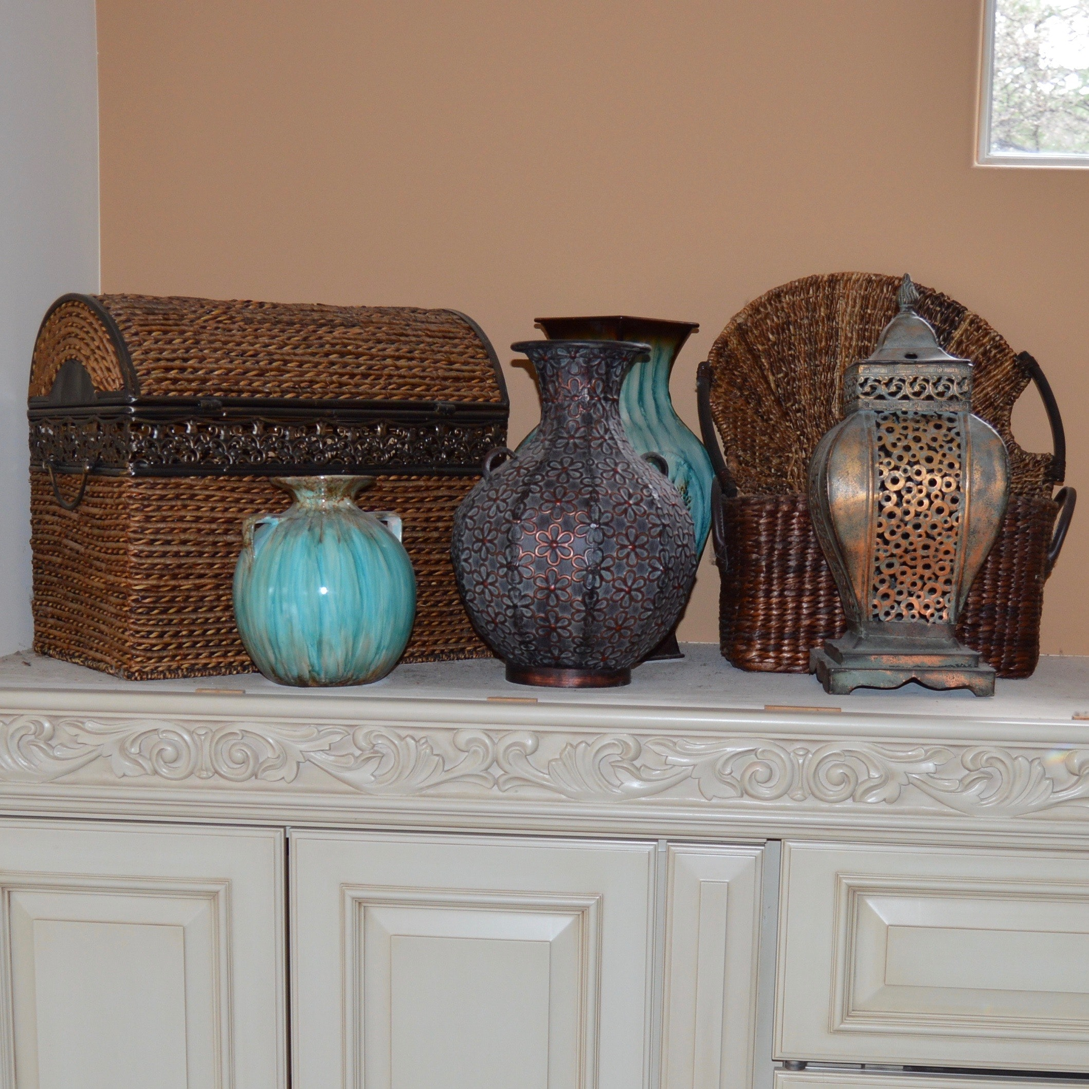 Baskets and Vases Decor Grouping