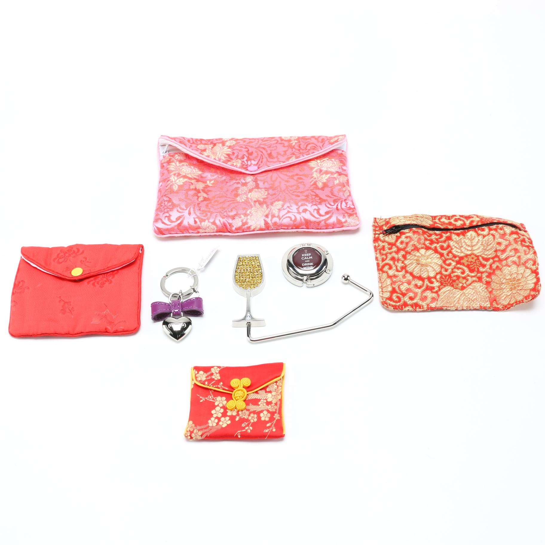 Jewelry Bags, Purse Table Hooks, and Coach Keychain