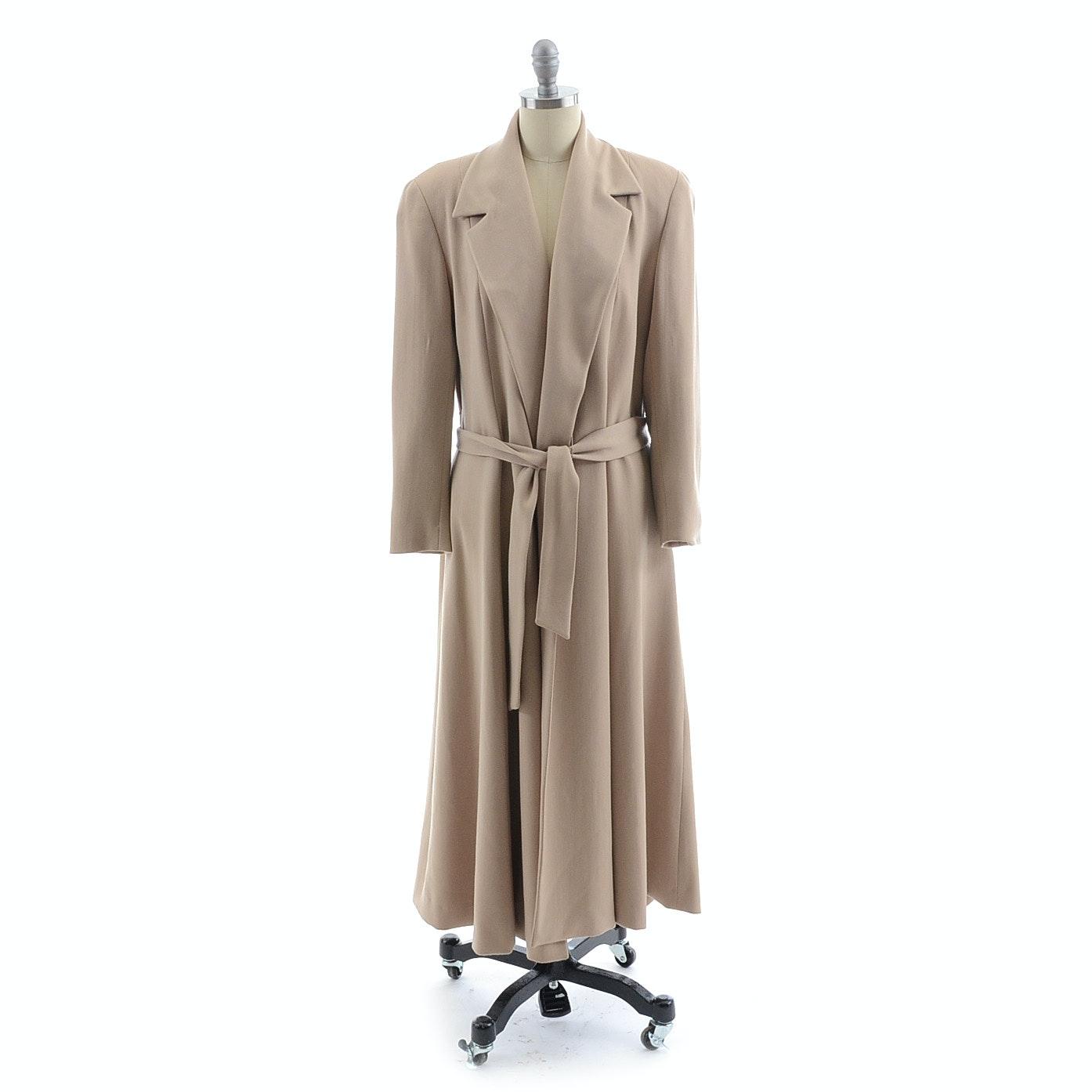 Ralph Lauren Wool Coat with Tie Belt in Camel