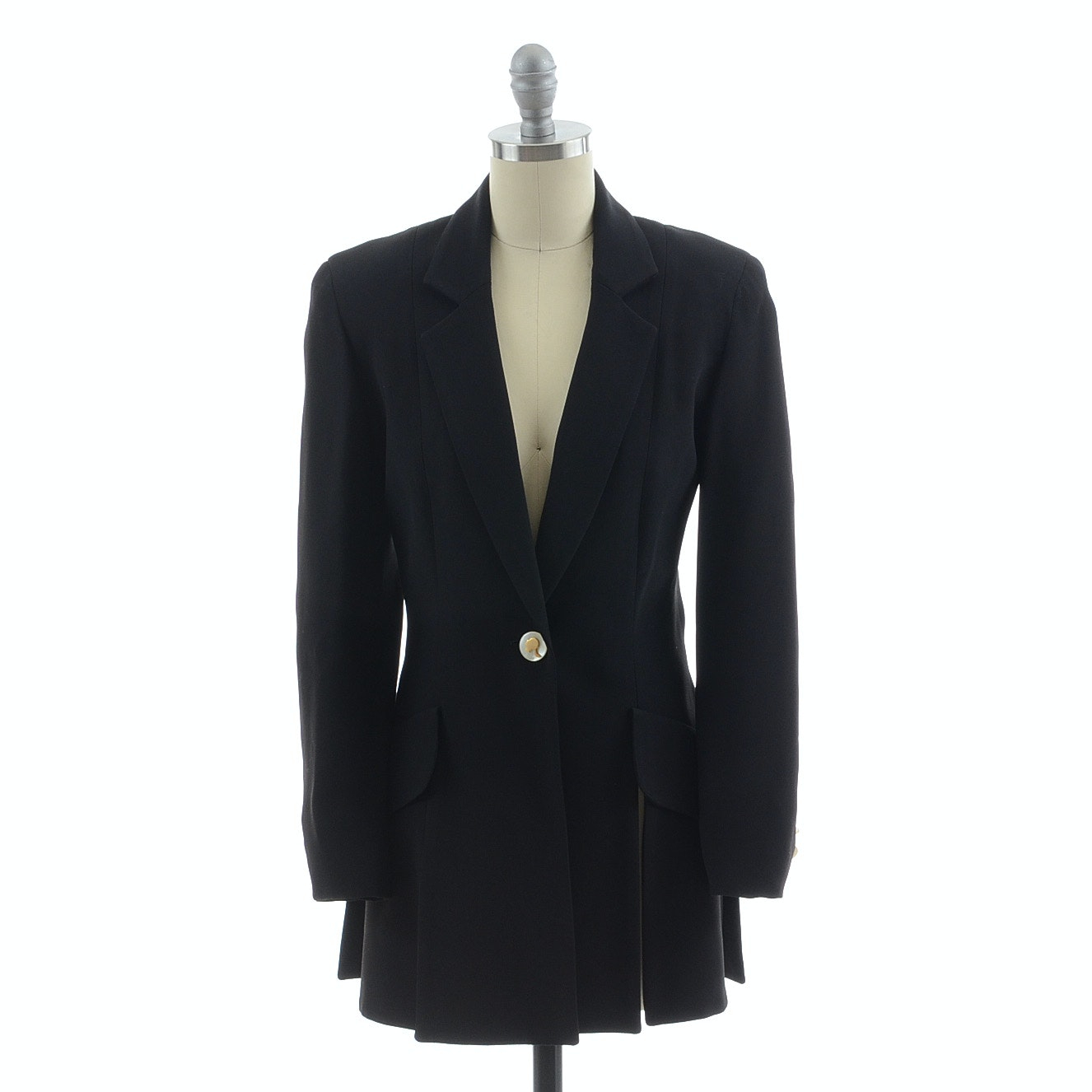 "Moschino Black Paneled Cut Blazer from the ""Cheap and Chic"" Collection, Circa 2000s"