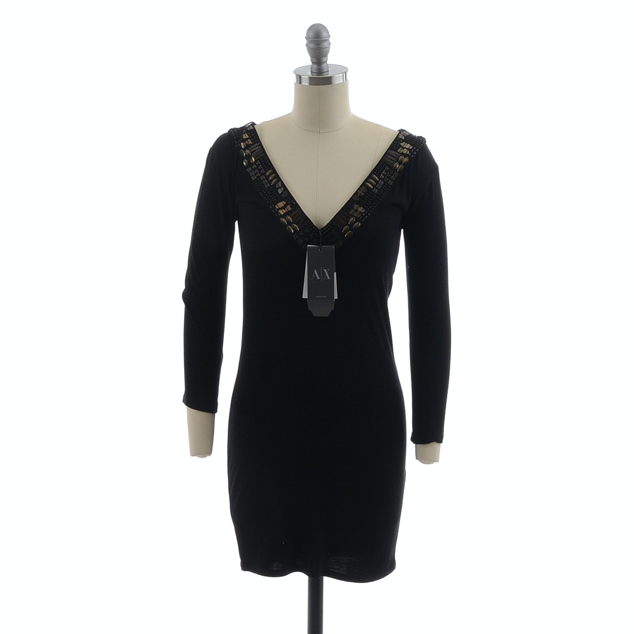 Armani Exchange Reversible Black Cocktail Dress, New With Tags