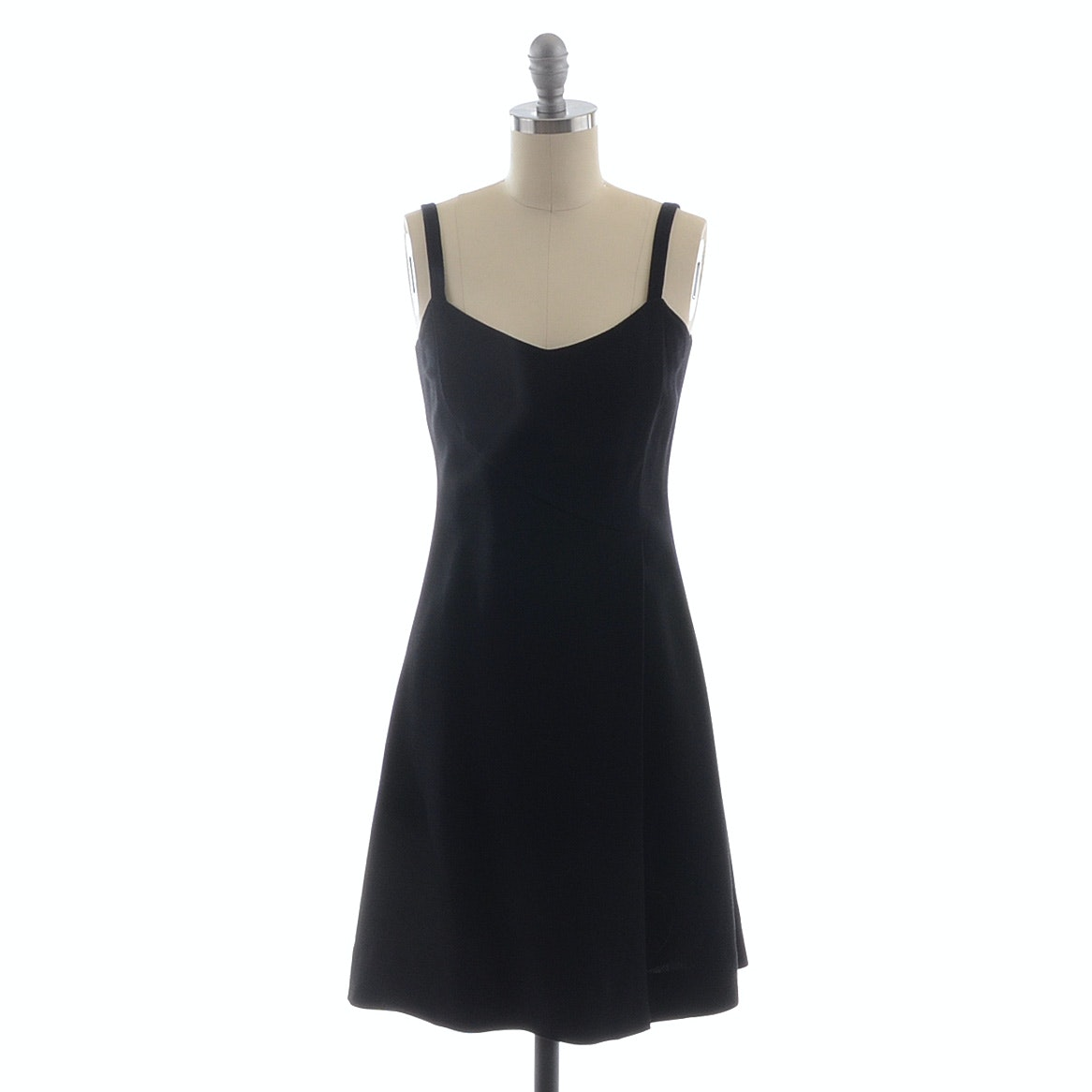Circa 1980s Emporio Armani Black Sleeveless Cocktail Dress