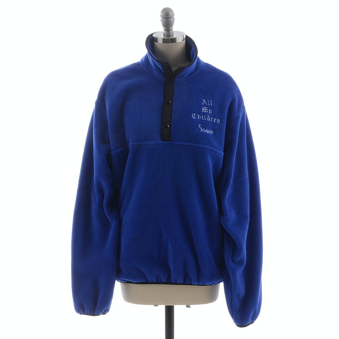 "Susan's ""All My Children"" Embroidered Polartec Royal Blue Fleece Pullover"