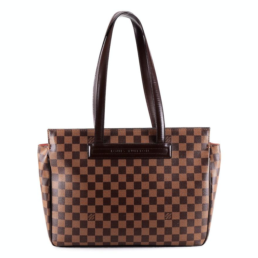 """Susan's Louis Vuitton Damier Ebene Canvas Parioli PM """"Script Bag"""""""