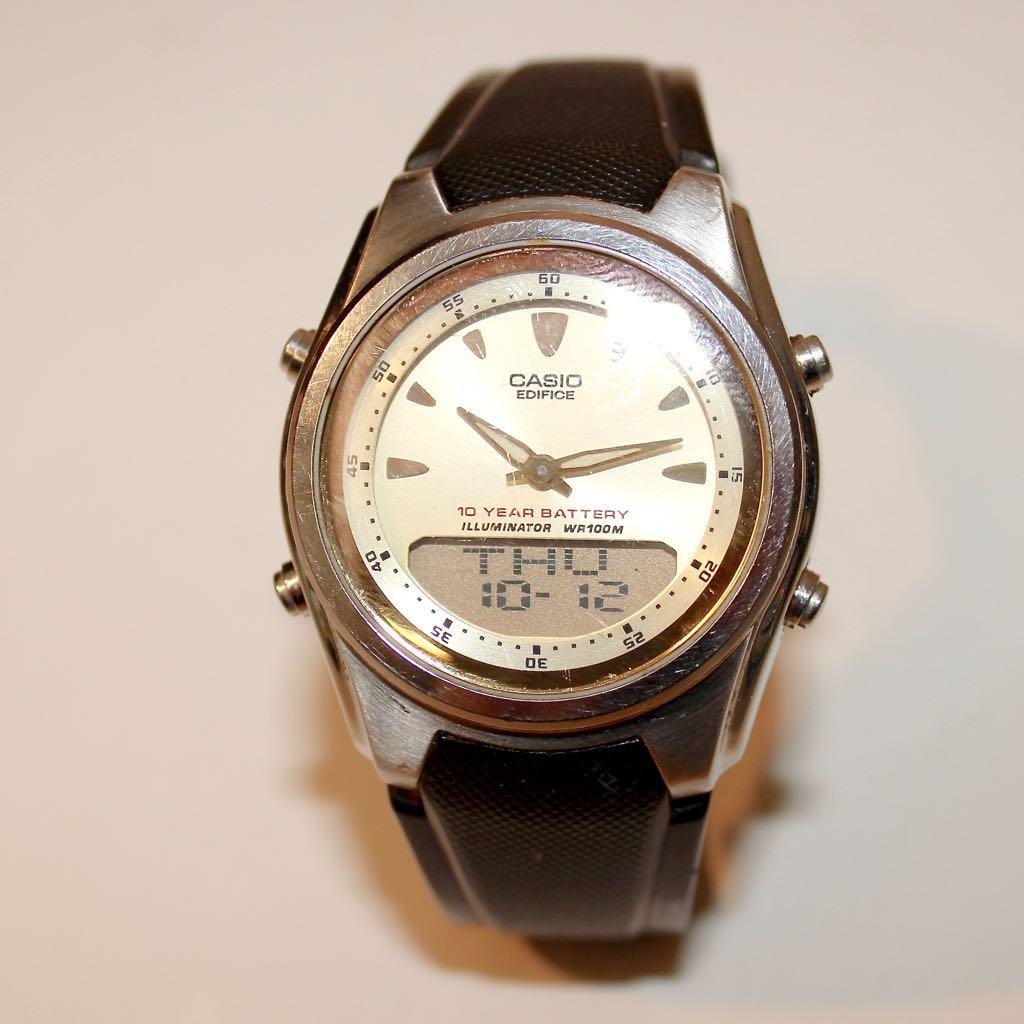 Casio  U0026quot Edifice U0026quot  2747 Efa 109 Wrist Watch