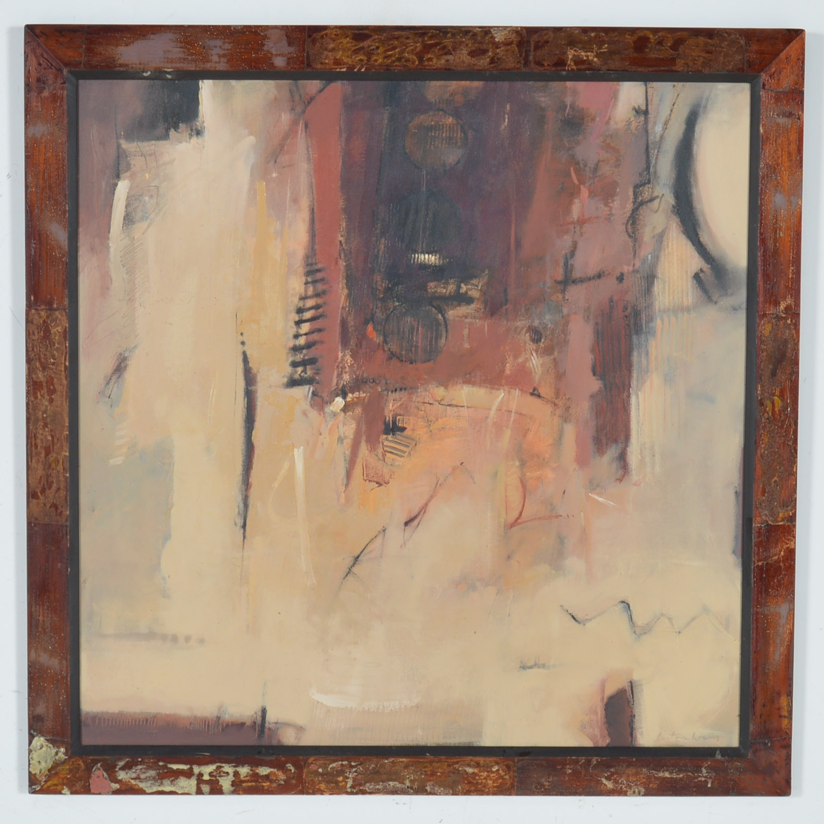 "Anton Weiss Original Acrylic on Canvas ""Transient"""
