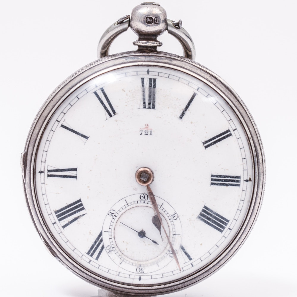 English Sterling Silver Pocket Watch