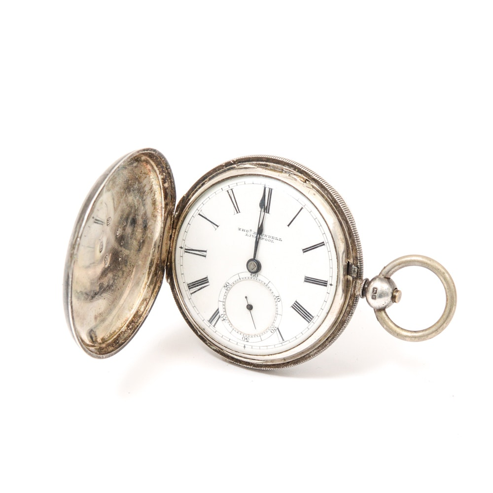 Thos Blundell Sterling Silver Pocket Watch