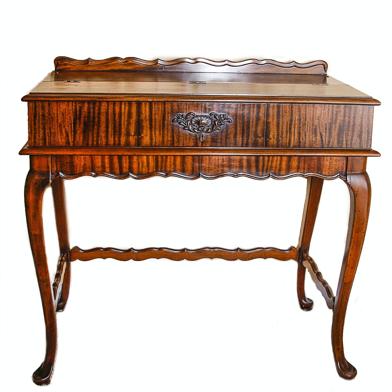 Vintage Tiger Mahogany Ladies Writing Desk ...