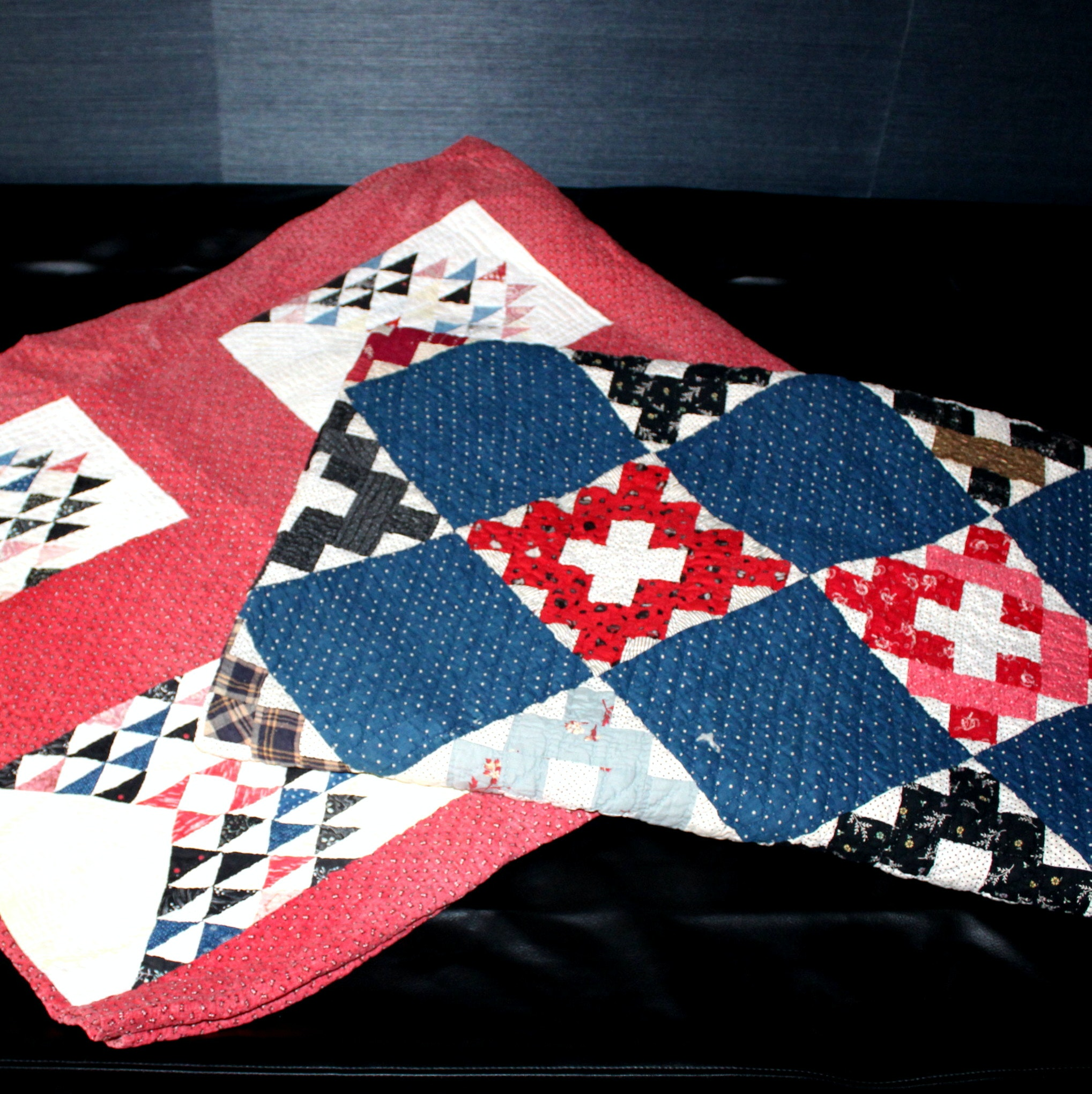 Two Handmade Vintage Quilts